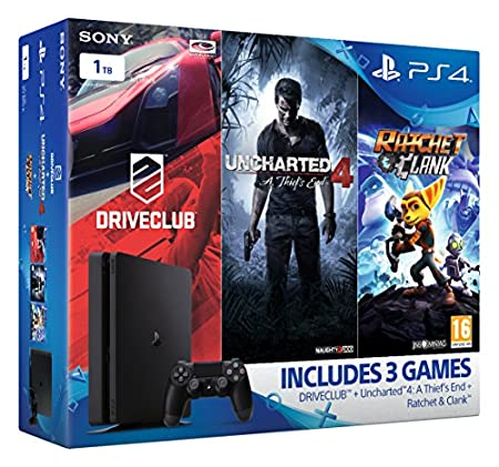 Sony PlayStation 4 1TB Mega Pack Bundle (Uncharted 4, Ratchet and Clank, DriveClub)