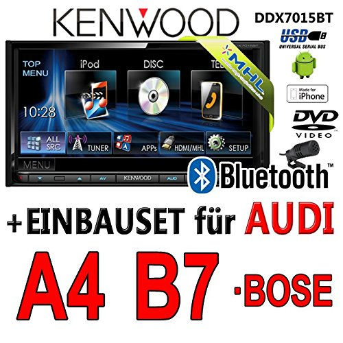 Audi a4 b7 kenwood-dDX7015BT 2DIN multimédia hDMI/mHL bluetooth uSB avec dVD