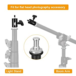 UTEBIT Rapid Adapter Convert with 14 Screw DSLR Mount Bracket Threaded Adapters Compatible for Light Stand Tip Boom Arm Photo Studio Photography Accessory (Color: 1/4 Adapter 2 Pack, Tamaño: 1/4 Adapter)
