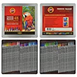 Koh-I-Noor PROGRESSO AQUARELL - Artists' Woodless Coloured Pencils, Aquarell Set Of 48
