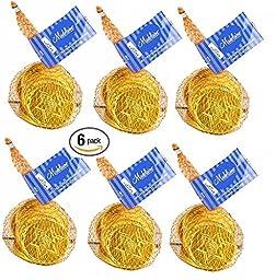 Chanuka/Hanukah Milk Chocolate Gold Gelt Coins 1.5 oz Bags- 6 Bags