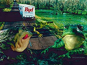 Budweiser Bud Frogs II Unframed Limited Edition Lithocel at Amazon's