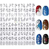 New Arrival Silver 3D Nail Art Stickers Decals,108pcs/sheet Stylish Metallic Mixed Designs Nail Tips Accessory Decoration Tool (Color: Silver)