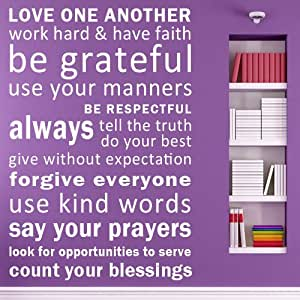 love one another have faith be grateful