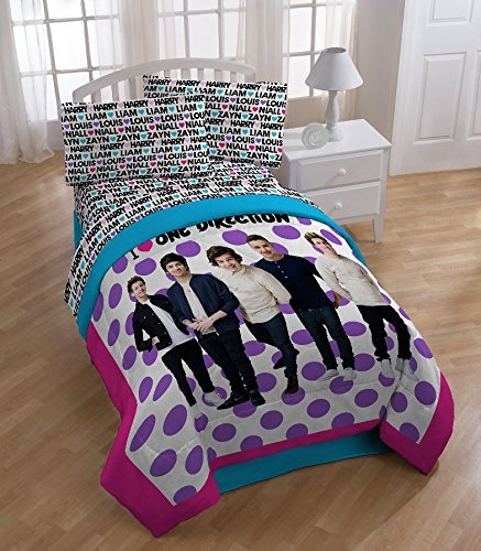 Global Entertainment One Direction Dots Sheet Set, Twin (Comforter One Direction compare prices)