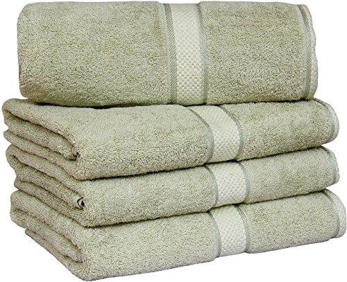 utopia towels 30x56 inches luxury cotton bath towels 4 pack sage green food beverages tobacco. Black Bedroom Furniture Sets. Home Design Ideas