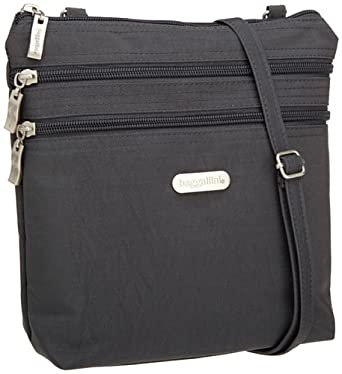 Baggallini Luggage Zipper Bag, Charcoal, One Size