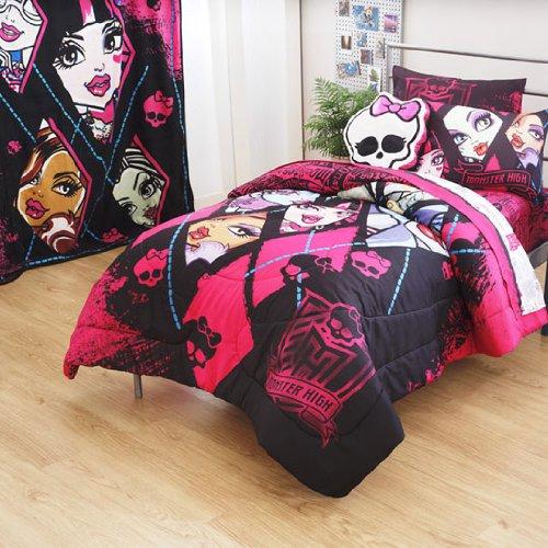 Monster High Dolls Ghouls Back 4Pc Full Bed Sheets Set front-1069290