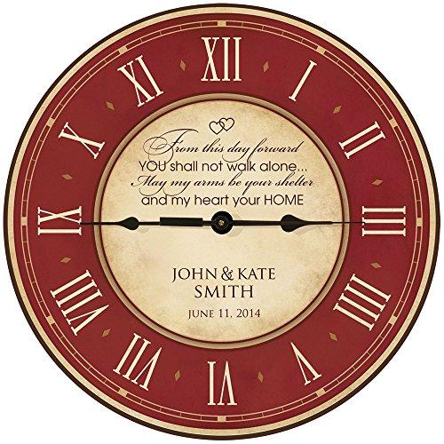 Wedding Clock or Anniversary Clock, Personalized wedding gift, anniversary gift, housewarming gift