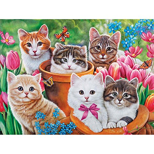 Puzzle Collector Art 500 Piece Puzzle - Garden Kittens