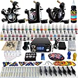 Solong Tattoo® Complete Tattoo Kit 3 Pro Machine Guns 40 Inks Power Supply Foot Pedal Needles Grips Tips TK356