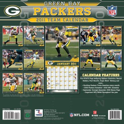 Green Bay Packers 2011 Team Calendar