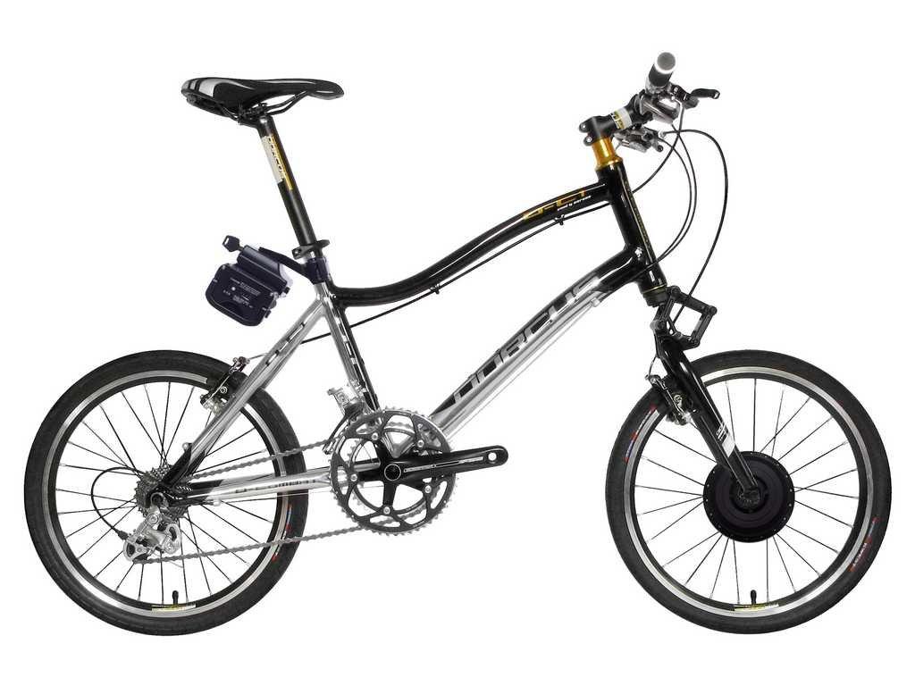 Dorcus bicicletta elettrica DC-1 emozione 20G 20 pollici, argento / nero, batteria 24V/9AH