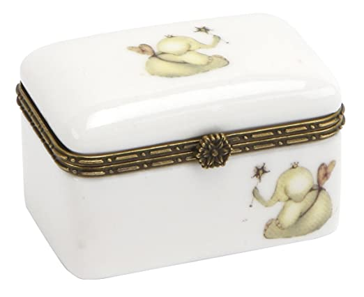 Cid Pear Ceramic Keepsake Box, Flying Elephant for Girls
