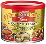 Superior Nut Fancy Chocolate Covered Cashews, 10.5-Ounce Canisters (Pack of 6)