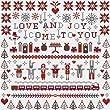 LOVE & JOY Christmas Cross Stitch Kit