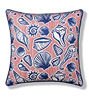 Seashells Print Cushion