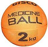 VIRTUOUS Unisex Rubber Medicine Ball 2000gm Orange