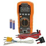 Digital Multimeter, Auto-Ranging, 600V Klein Tools MM400 (Color: Orange, Tamaño: Auto Ranging/Temperature, Capacitance, Frequency)