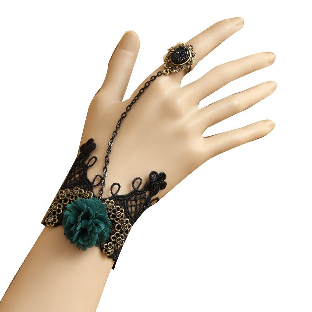 Executed Angel Lace Wristband Bracelet Ring Halloween Decorations Punk Rock Gothic Bracelet