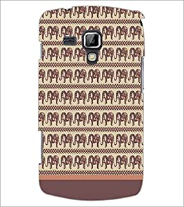 PrintDhaba Elephant Pattern D-1904 Back Case Cover for SAMSUNG GALAXY S DUOS 2 S7582 (Multi-Coloured)