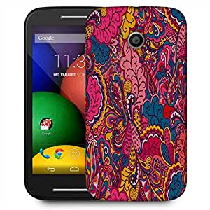 Snoogg Abstract Multicolor Leaves Designer Protective Phone Back Case Cover For Motorola E / Moto E