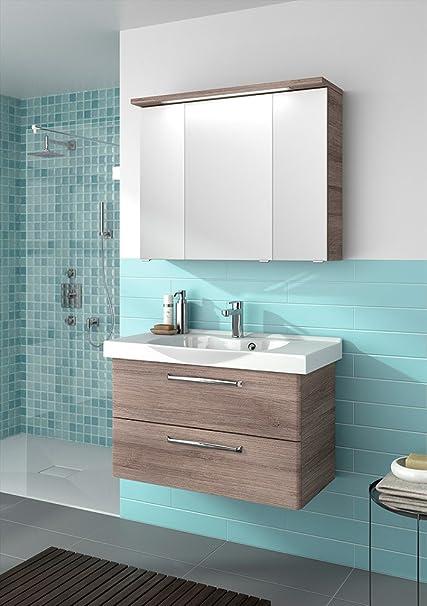 PELIPAL Trentino 920Bathroom Furniture Set (3'), Ceramic Wash Basin Cabinet/Mirror Cabinet