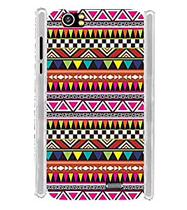Indian Pattern Art Wall Soft Silicon Rubberized Back Case Cover for Lava Iris X5 :: Lava Iris X5 4G