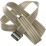 """Physical Therapy Gait Belt with Metal Buckle (beige), 60"""""""