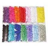 BetterJonny - 420 Sets 14-Color Lead-Tested KAM Snaps Size 20 T5 KAM Snap Plastic Fasteners Punch Poppers Closures No-Sew Buttons for Cloth Diaper/Bibs/Unpaper Towels/Nappies/Buttons/Mama Pads (Color: mixed, Tamaño: 20)