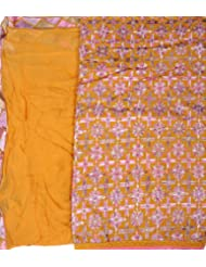 Exotic India Phulkari Salwar Kameez Fabric From Punjab With Ari Embroidery - B00GUN0K9M
