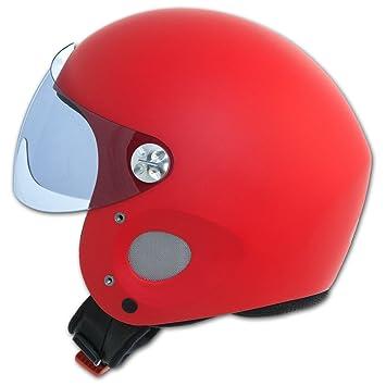 CASCO per bicicletta-Casco da moto con visiera e protezione ORECCHIE-Argento