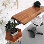 "Industrial Rustic Wall-mounted Table, Dining Table Desk, Pine wood Wall-Mounted Bar Tables (40""X14"")"