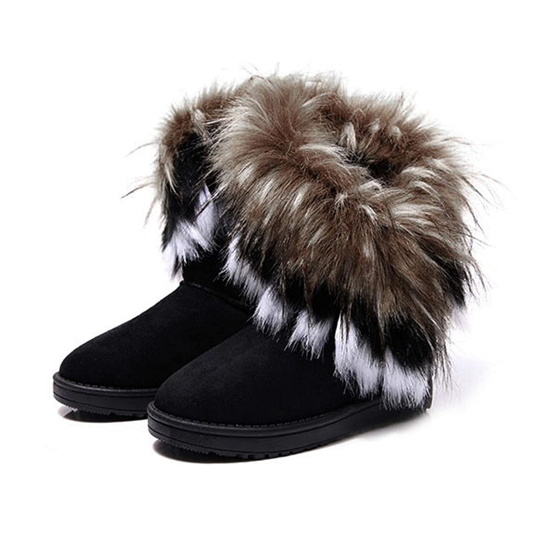 Zeagoo Damen Winter Schnee Stiefel Stiefeletten