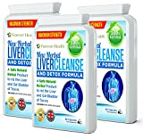 Liver Cleanse and Detox - Herbal Organic Liver Cleanser & Organ Flush - This NEW FORMULA Internal Cleanser Uses Only Natures Own Herbs and Plants Like ARTICHOKE GINGER and DANDELION ROOT to Gently But Effectively Cleanse Detoxify Liver & Gall Bladder - 180 Liver Pills For Up to 6 MONTHS SUPPLY and FREE UK DELIVERY and FREE FATTY LIVER DIET PLAN / HEALTHY EATING PLAN !