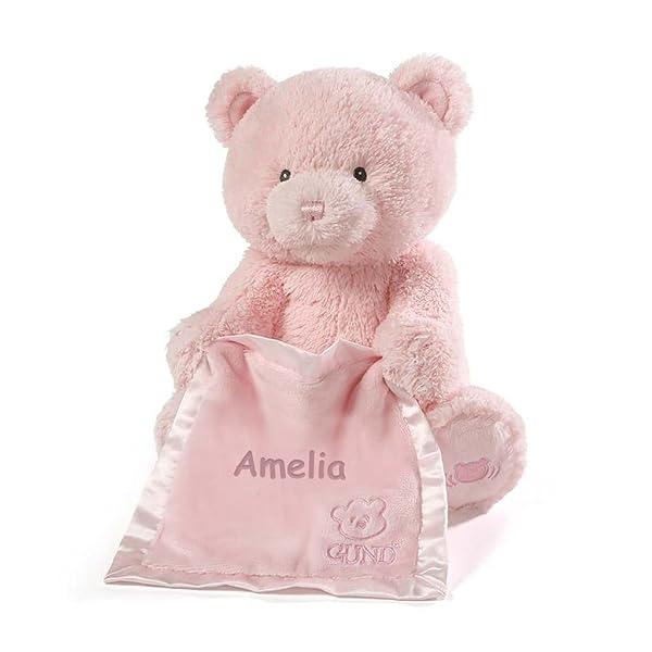 Personalized Peek A Boo Plush Toy (Peek A Boo Bear - Pink) (Color: Peek A Boo Bear - Pink)