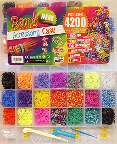 loom bands starter set box 4200 oder 4400 mit webrahmen 4200. Black Bedroom Furniture Sets. Home Design Ideas