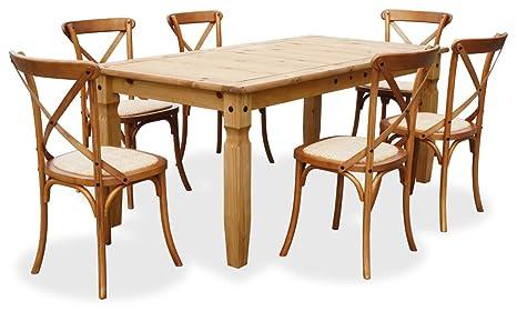 "KMH®, 7-teilige Esszimmer Sitzgruppe ""Corona/Paris"" (#800163)"