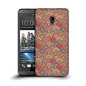 MobileGlaze Designs Round Paisley Print Upside Paisley Hard Back Case Cover for HTC DESIRE 700
