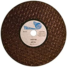 Falcon A60TBE Extra Tough Resinoid Bonded Double Reinforced Grinding and Snagging Abrasive Cut-off Wheel, Type 1, Aluminum Oxide