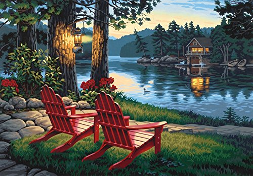 Dimensions Needlecrafts Paintworks Paint By Number, Adirondack Evening front-553091