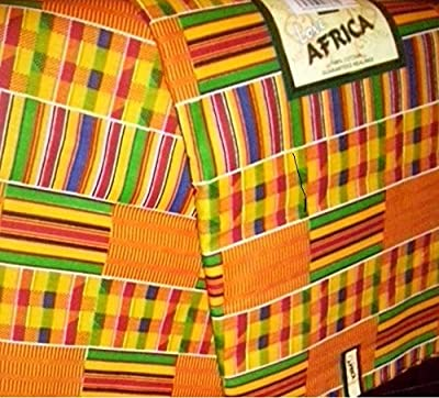 2 Yards African Textile Fabric Kente Cloth Ankara Print - #1