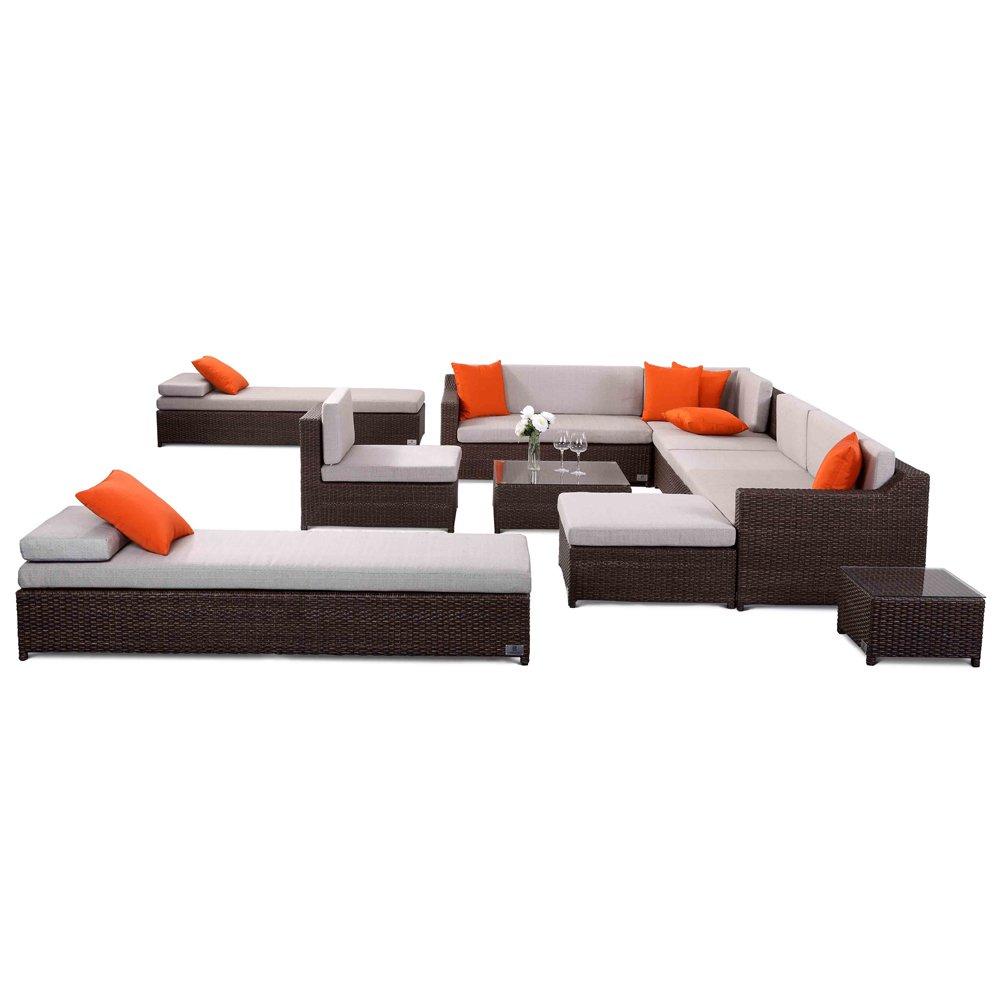 Nikkigarden Sofa Set Santa Monica mixed dunkelbraun bestellen