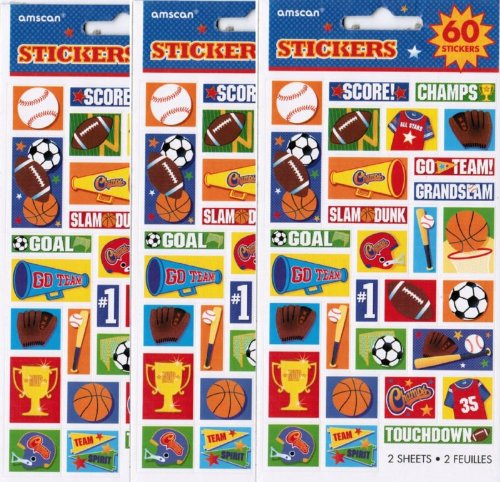 Soccer Stickers 2 Sheets Acid Free/lignin Free