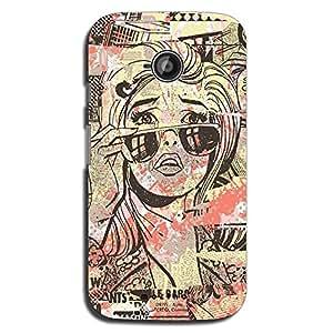 Mozine In Tears printed mobile back cover for Motorola moto e 2nd gen