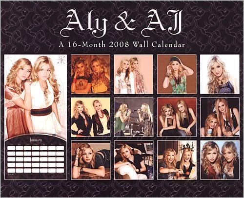Sexy Aly & AJ 2008 Wall Calendar