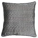 Homeblendz Polyester Jacquard Grey/black 40x40 Cushion Cover