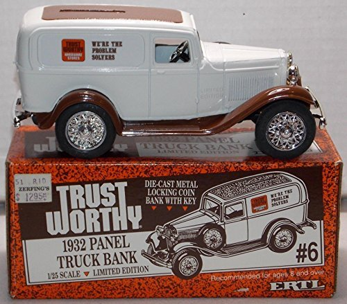 Ertl Die Cast Trust Worthy 1932 Panel Truck Bank with Key 1:25 Scale - 1