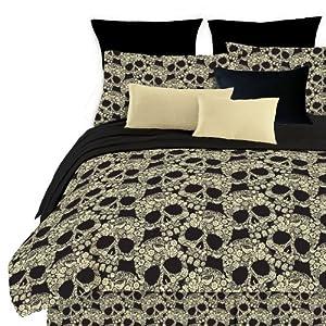 Veratex Flower Skull King Comforter Set, Multi