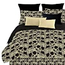 Veratex Flower Skull Queen Comforter Set, Multi